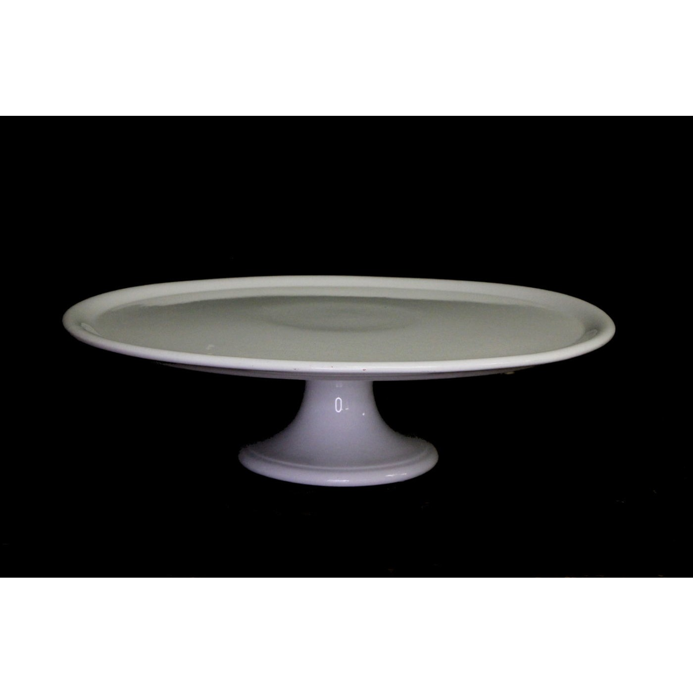 """14.5"""" Larger than Most Simple Ironstone Cake Stand"""