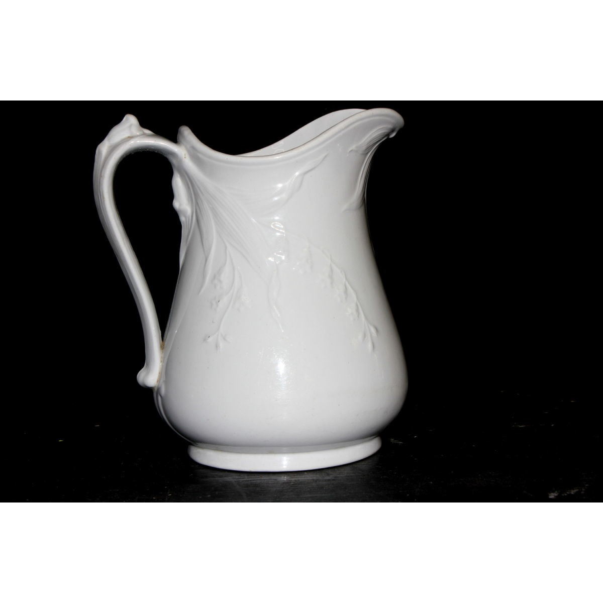 Sweet Forget-Me-Not Floral Milk Table Ironstone Pitcher