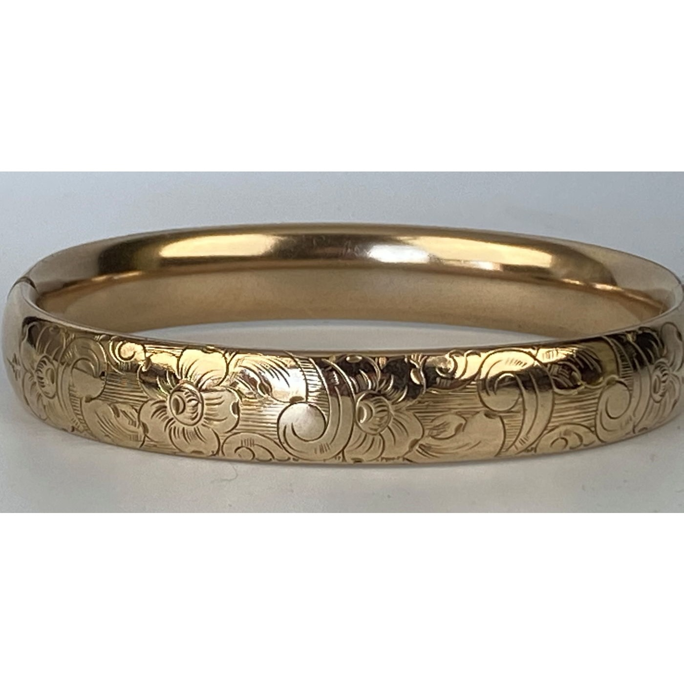 Floral Larger Wrist Average Width Perfect Stacker Engagement Bangle