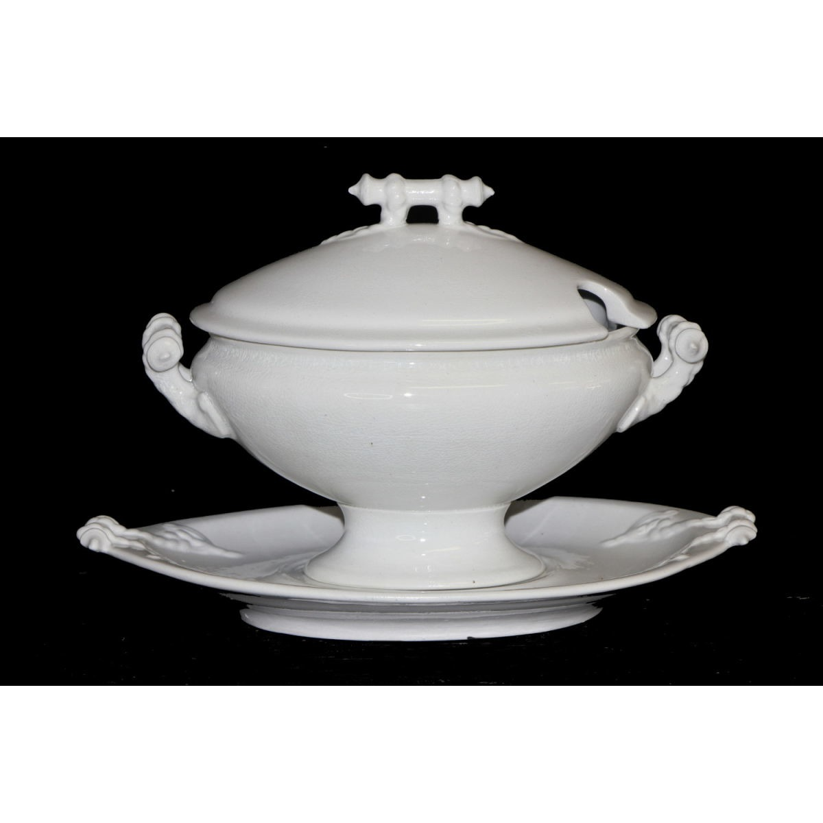 Super Sweet Small Plain Sauce Tureen with Underplate