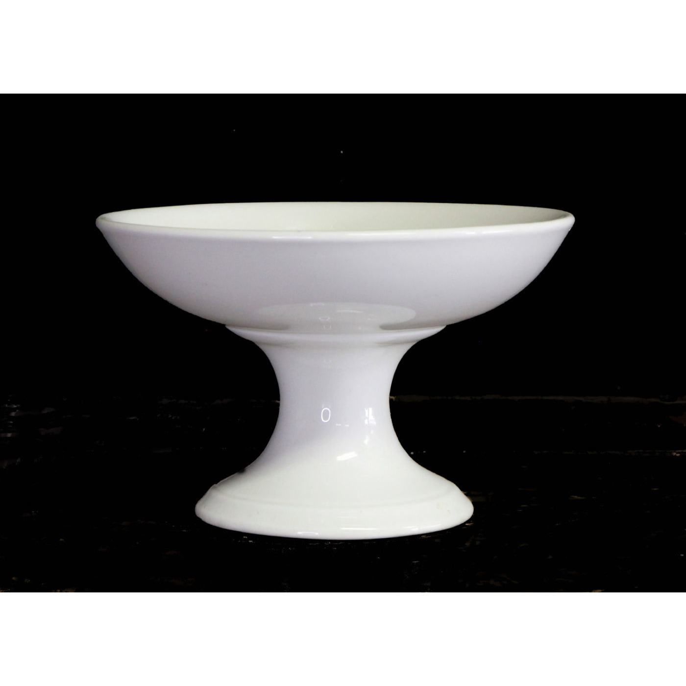 """Lovely 7.5"""" Small Ironstone Compote - Top Stack"""