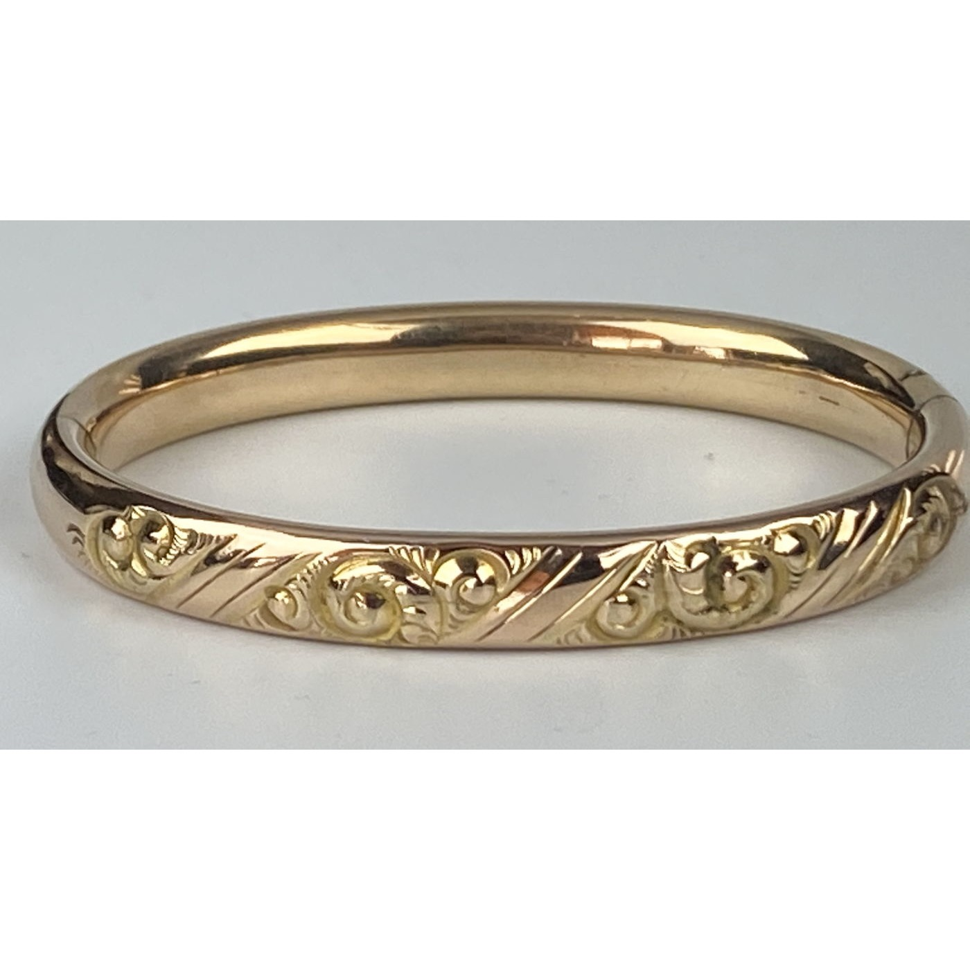 Much Smaller-Than-Usual Deeply Engraved Engagement Bangle