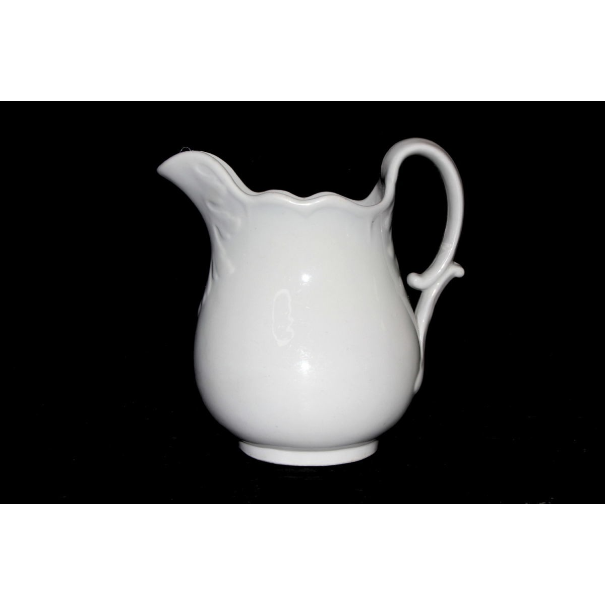 Scallop Top Rim Ironstone Table Pitcher