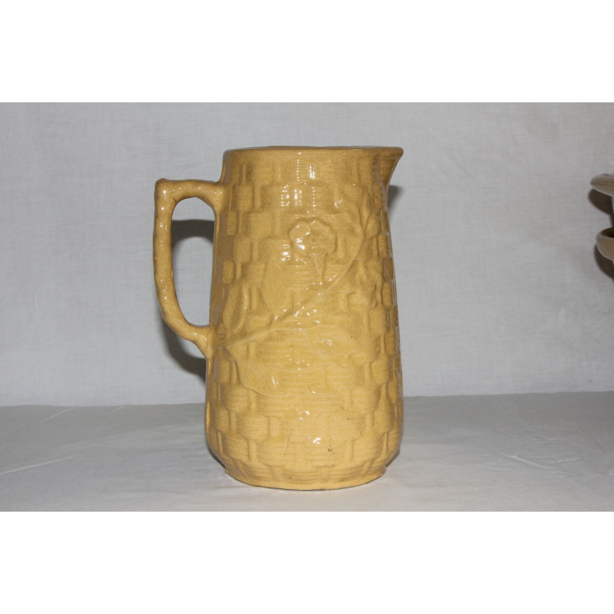 Simply Beautiful Yellowware Morning Glory Pitcher