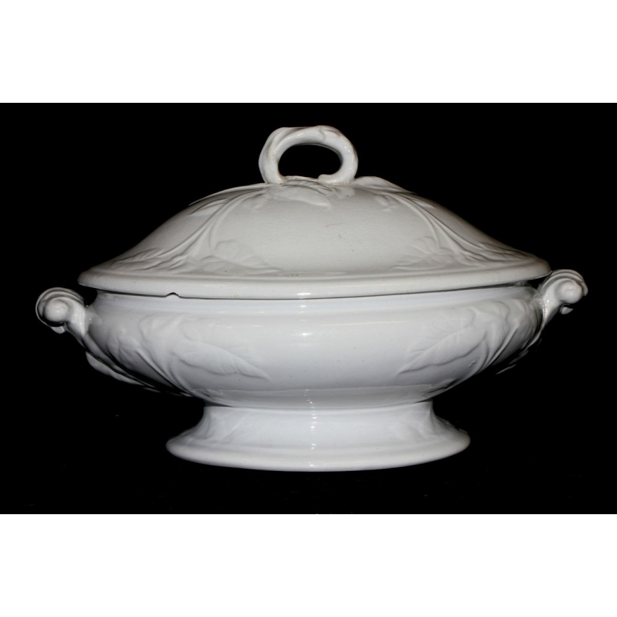 Medium-Sized Ironstone Vegetable Tureen - Morning Glory