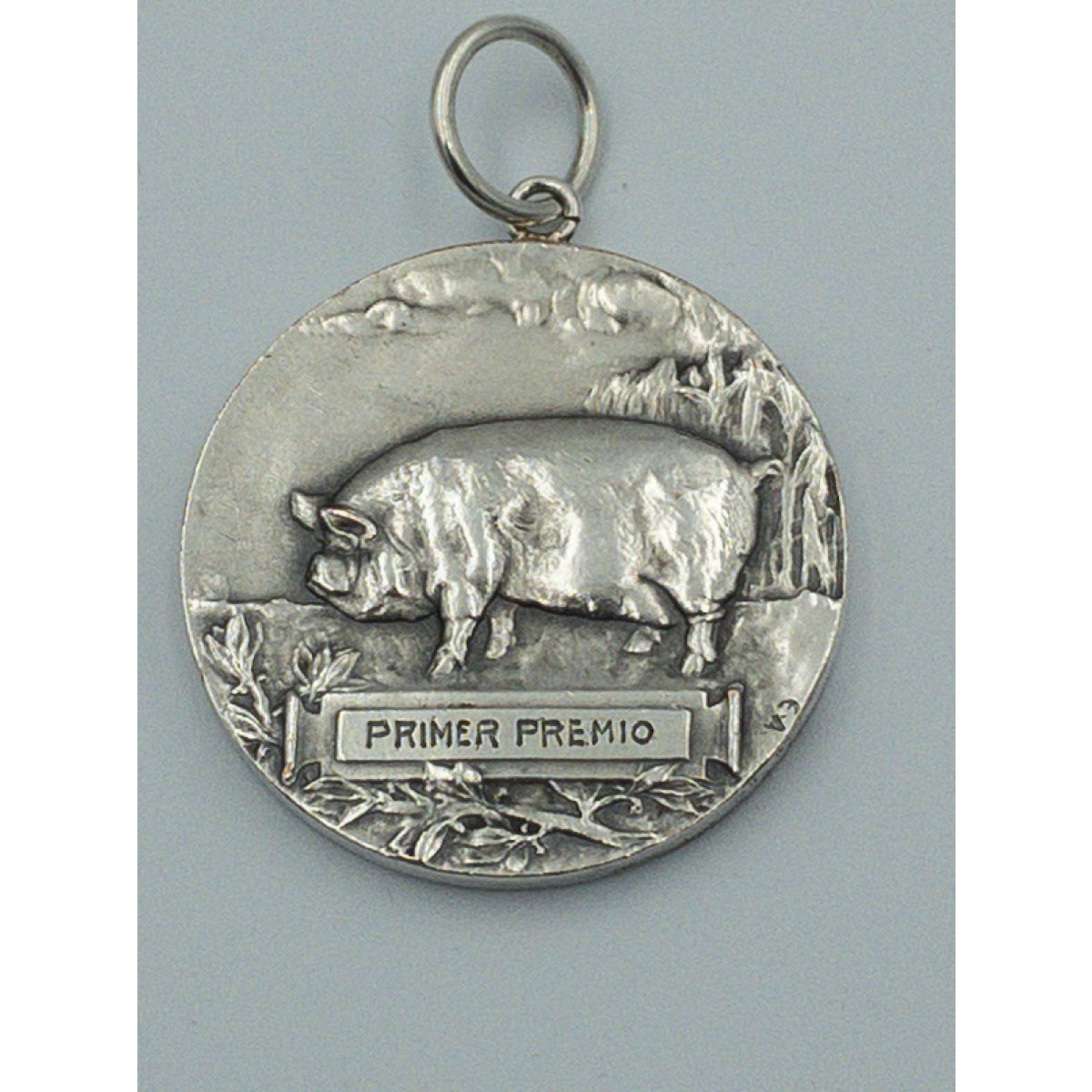 Wonderfully Cool Agricultural Victorian Silver Pig Medal