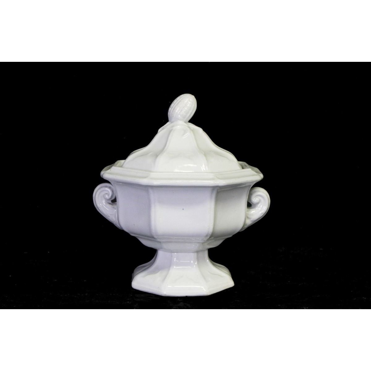 Gorgeous Corn Finial Small Sauce Ironstone Tureen