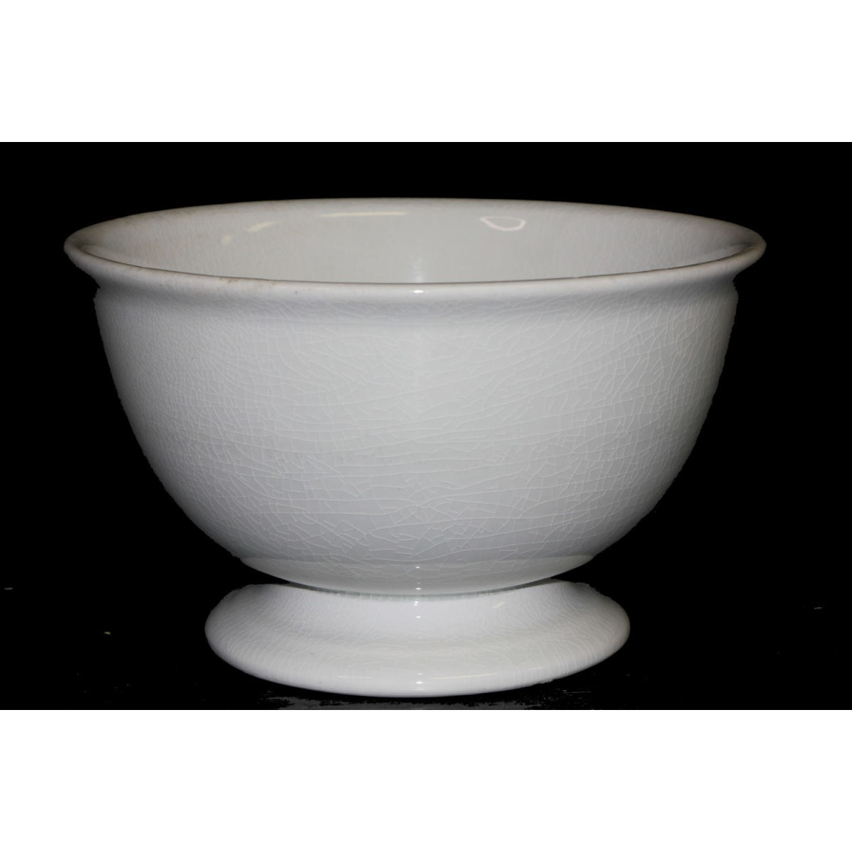 "Slightly Creamy White Meakin 9"" Ironstone Punch Bowl"