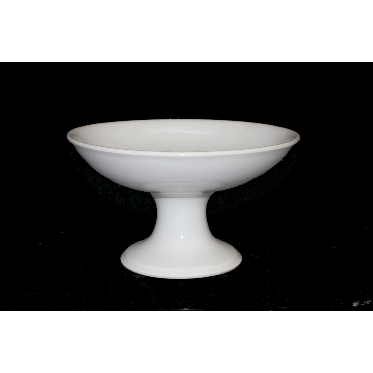 "Plain Ironstone Shallow 8.25"" Diameter Compote"