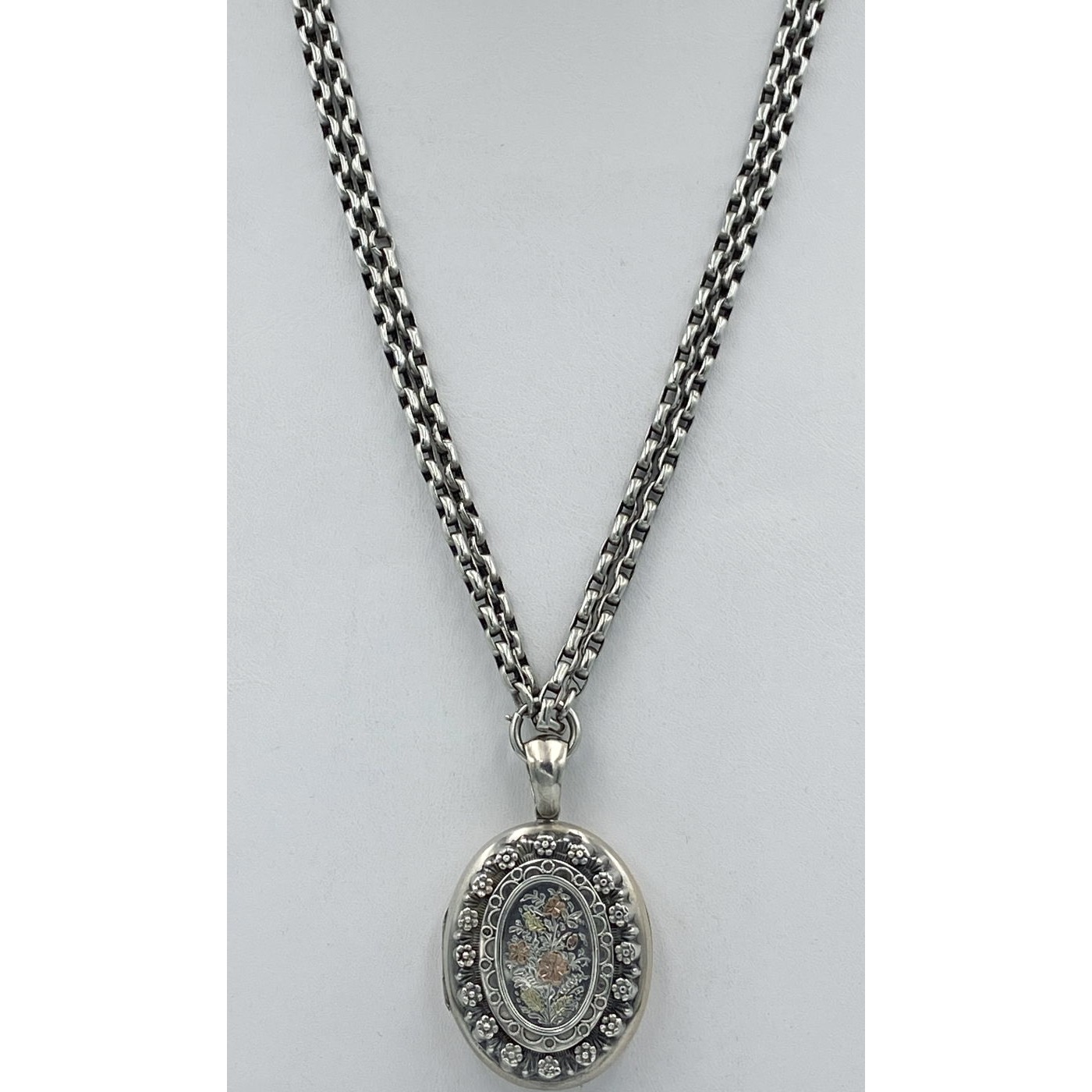"""Wonderfully Long 60"""" Wheat Link Antique English Silver Chain - Chain Only"""