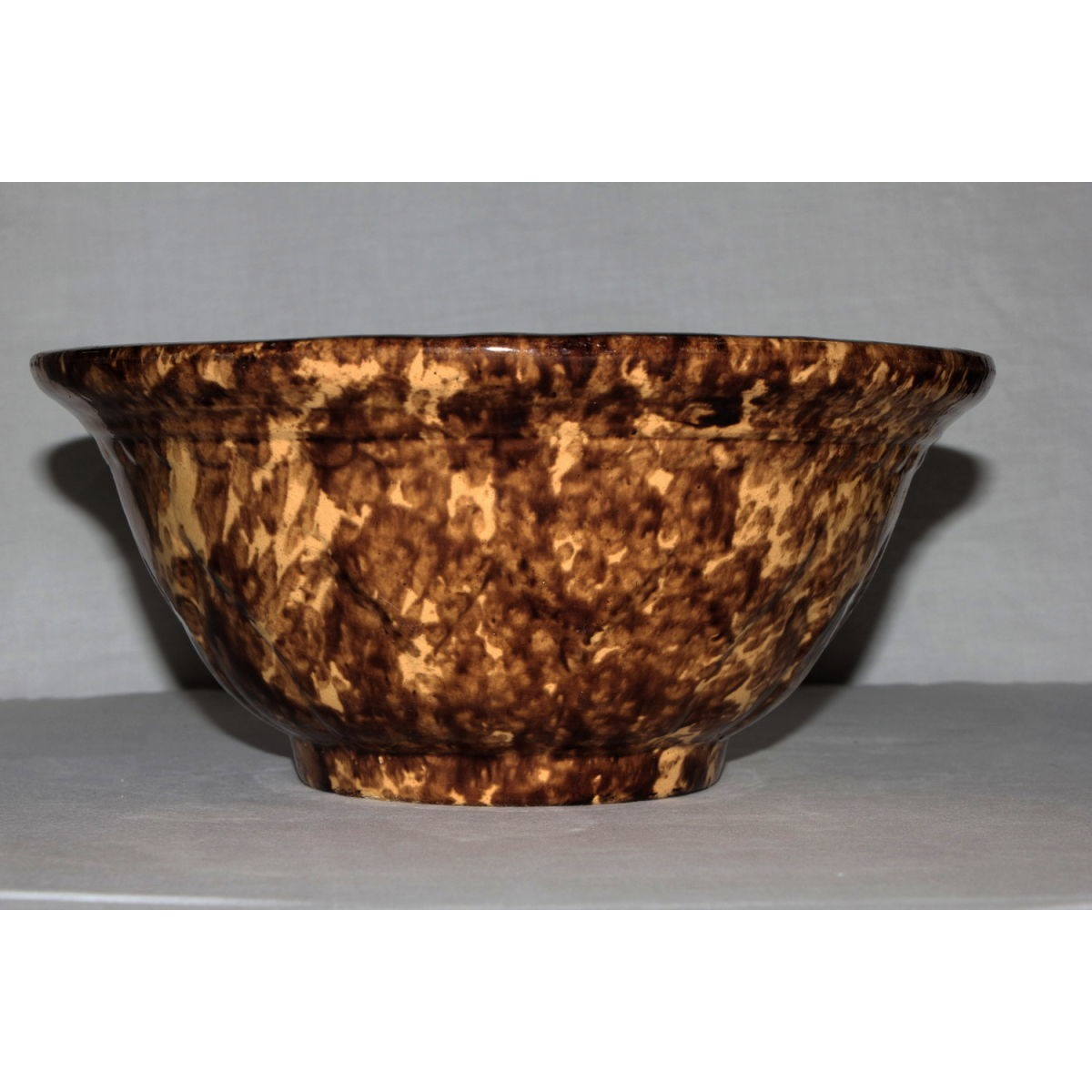"Very Nice 10.5"" Rockingham Embossed Bowl"