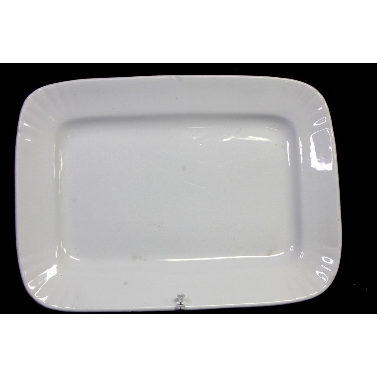 Fluted Corners Rectangular Medium-Sized Ironstone Platter