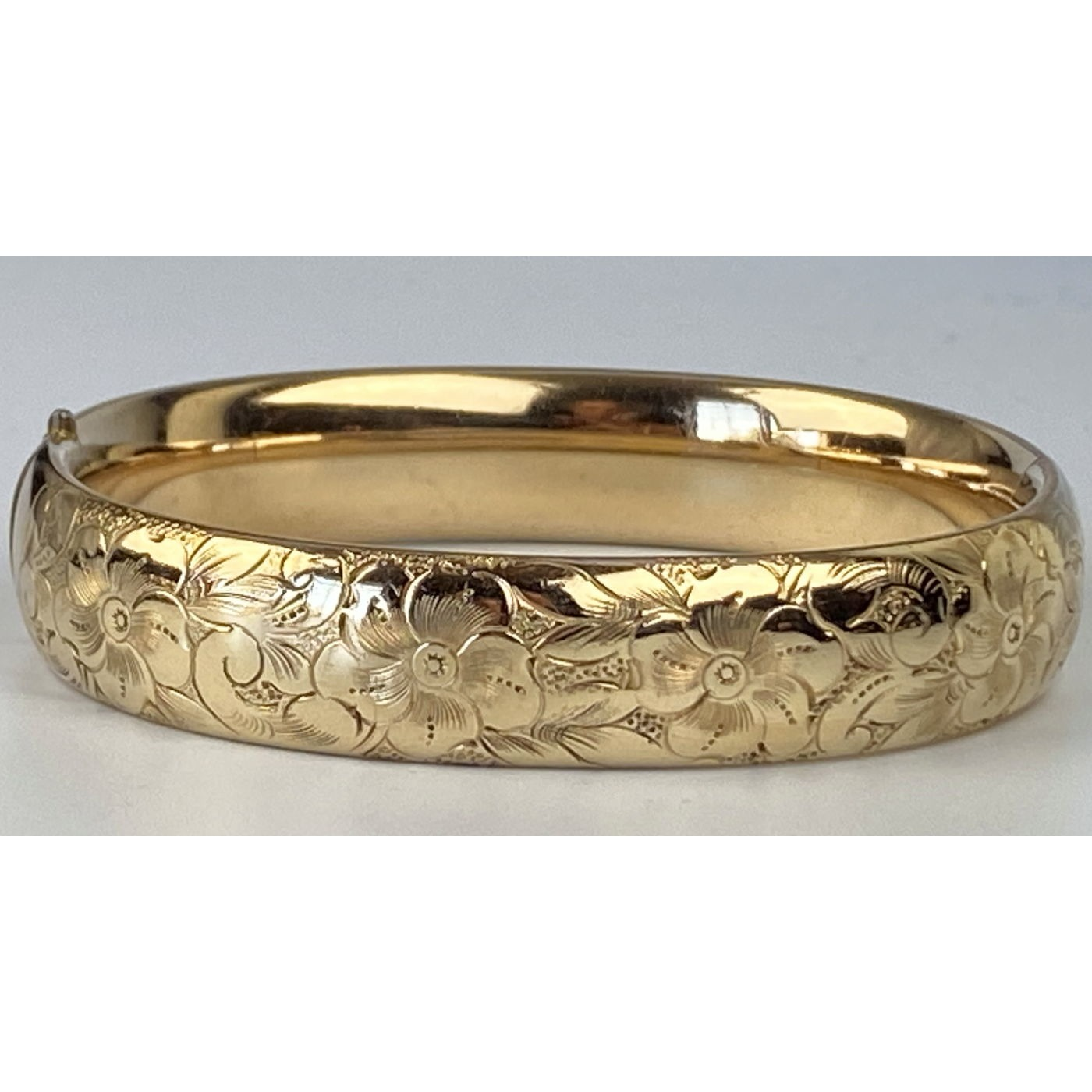 Floral Average Width Perfect Stacker Engagement Bangle