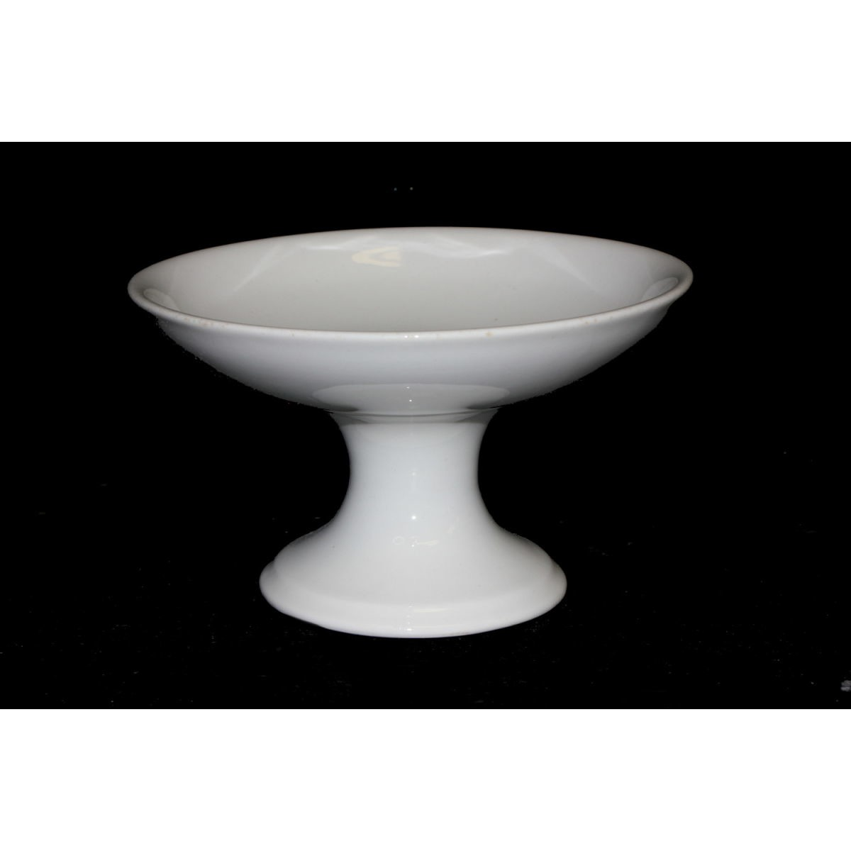 "Plain Ironstone 7.5"" Shallow Compote - Top Stack"