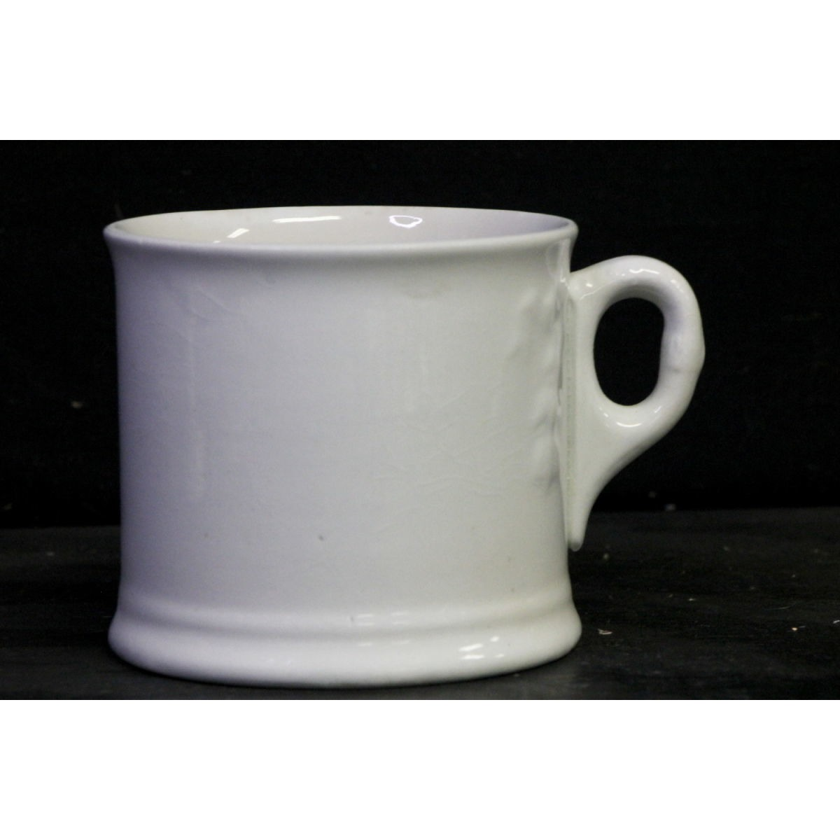 Slightly Decorated Ironstone Floral Mug