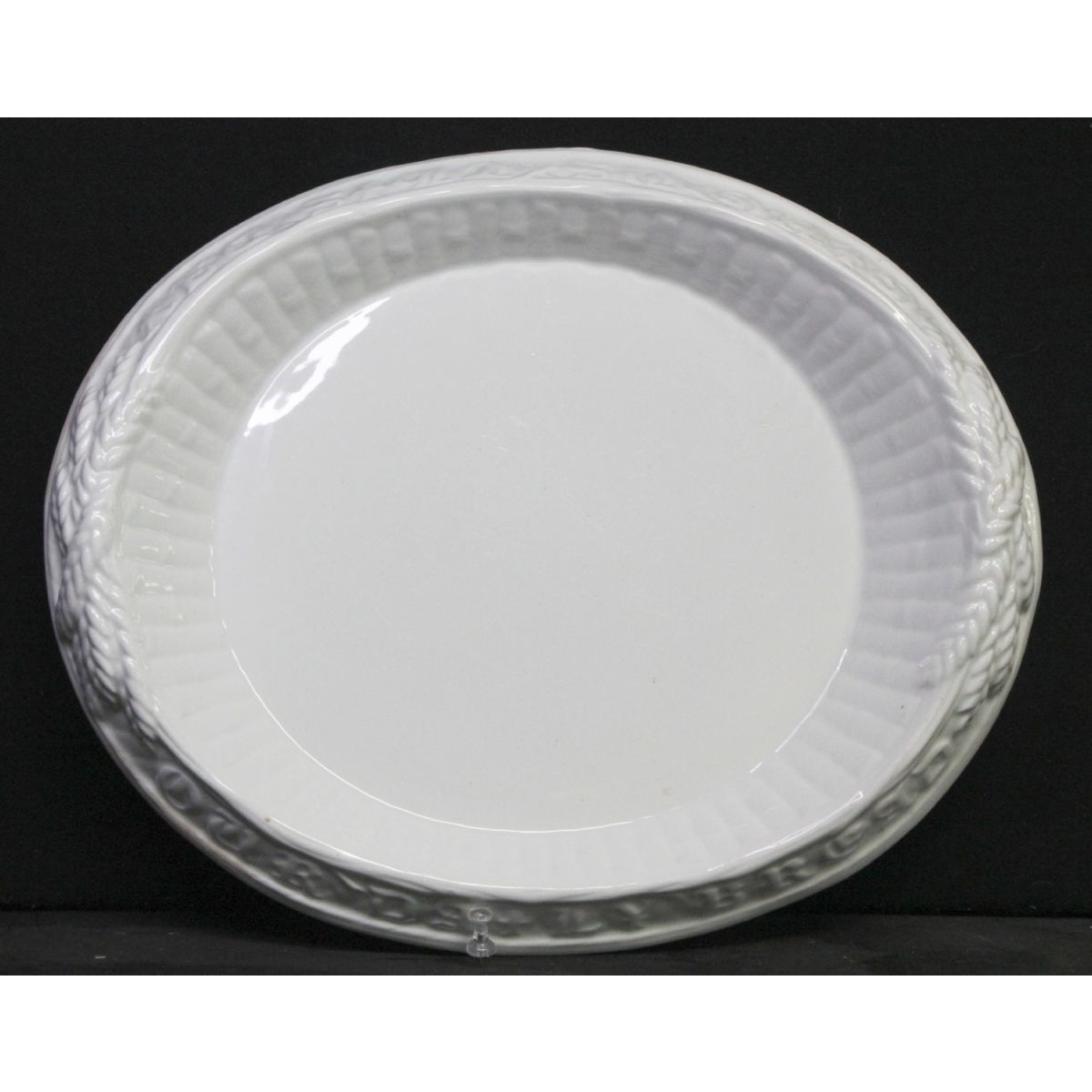 Unusual Bamboo Ironstone Bread Plate Give Us Our Daily Bread