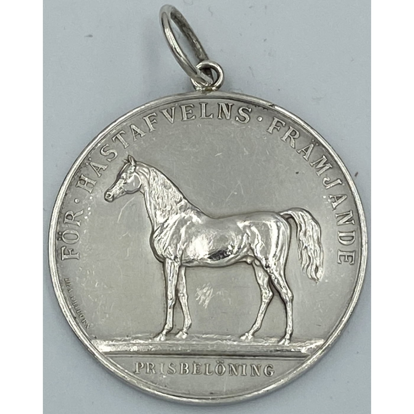 Wonderfully Neat Equestrian Horse Agricultural Medal Pendant