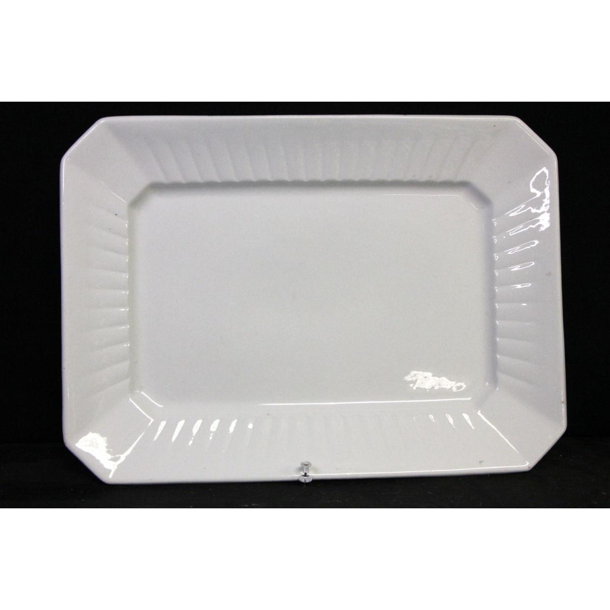 Large Plain Octagonal Ironstone Platter
