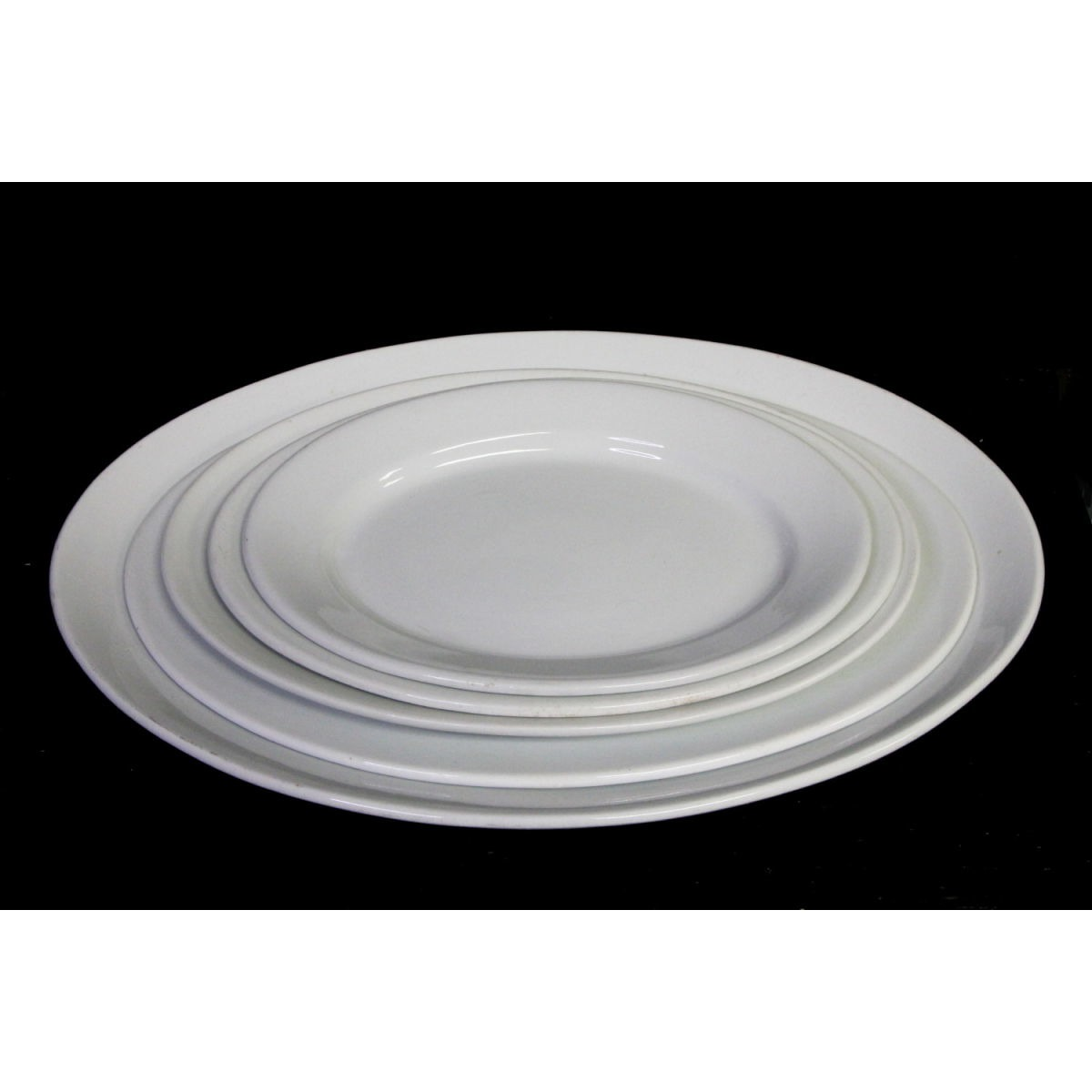 "Extra Large Plain Simple Ironstone Platter - 13.75"" x 19.25"""