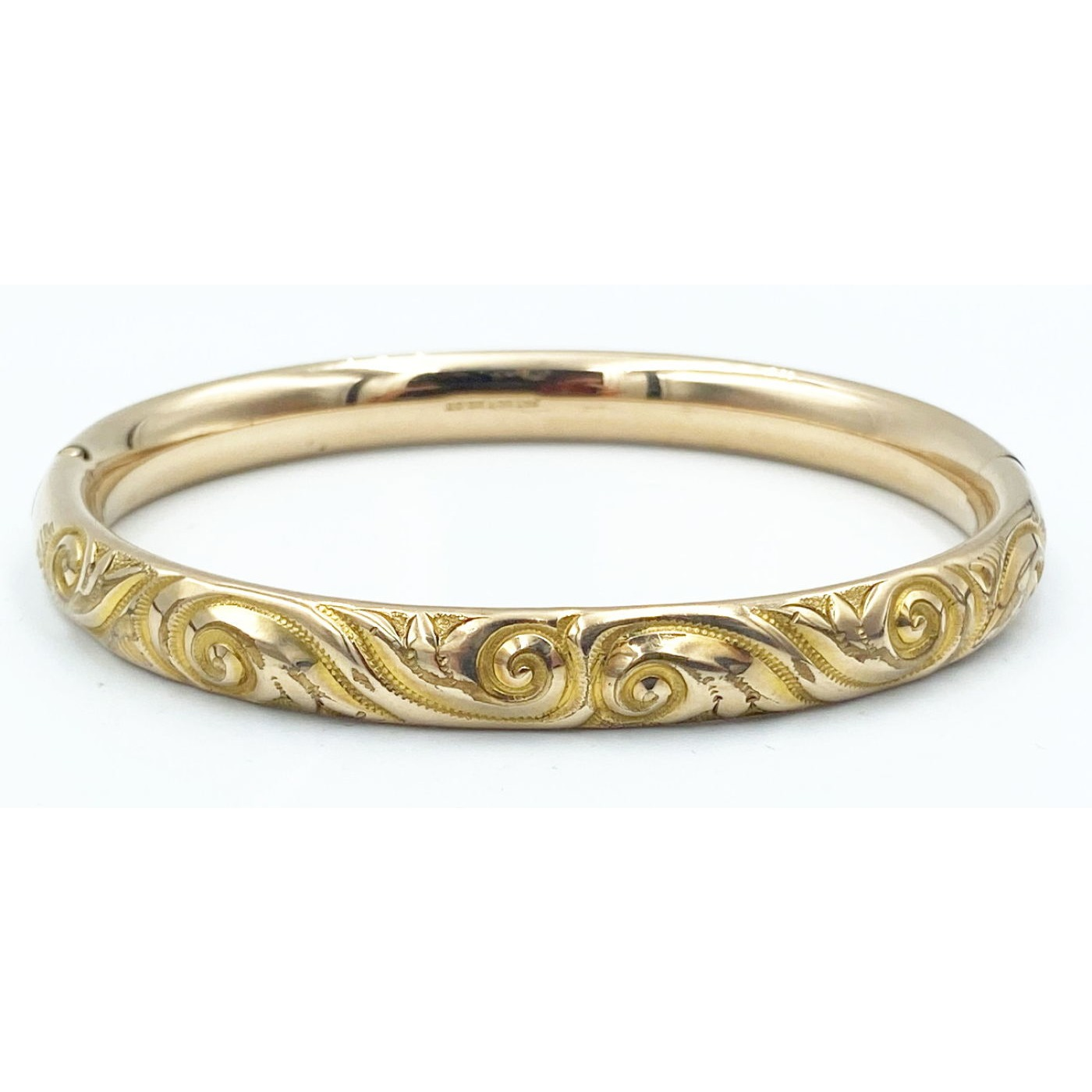 Stunning Narrow Deeply Engraved Larger Bangle Bracelet