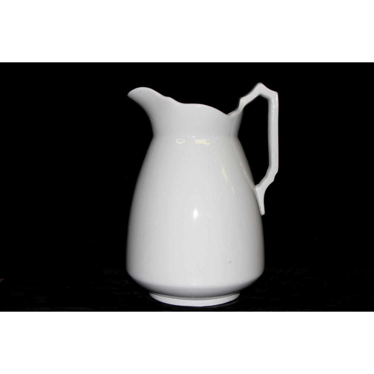 Tall Dimensional Ironstone Water Pitcher