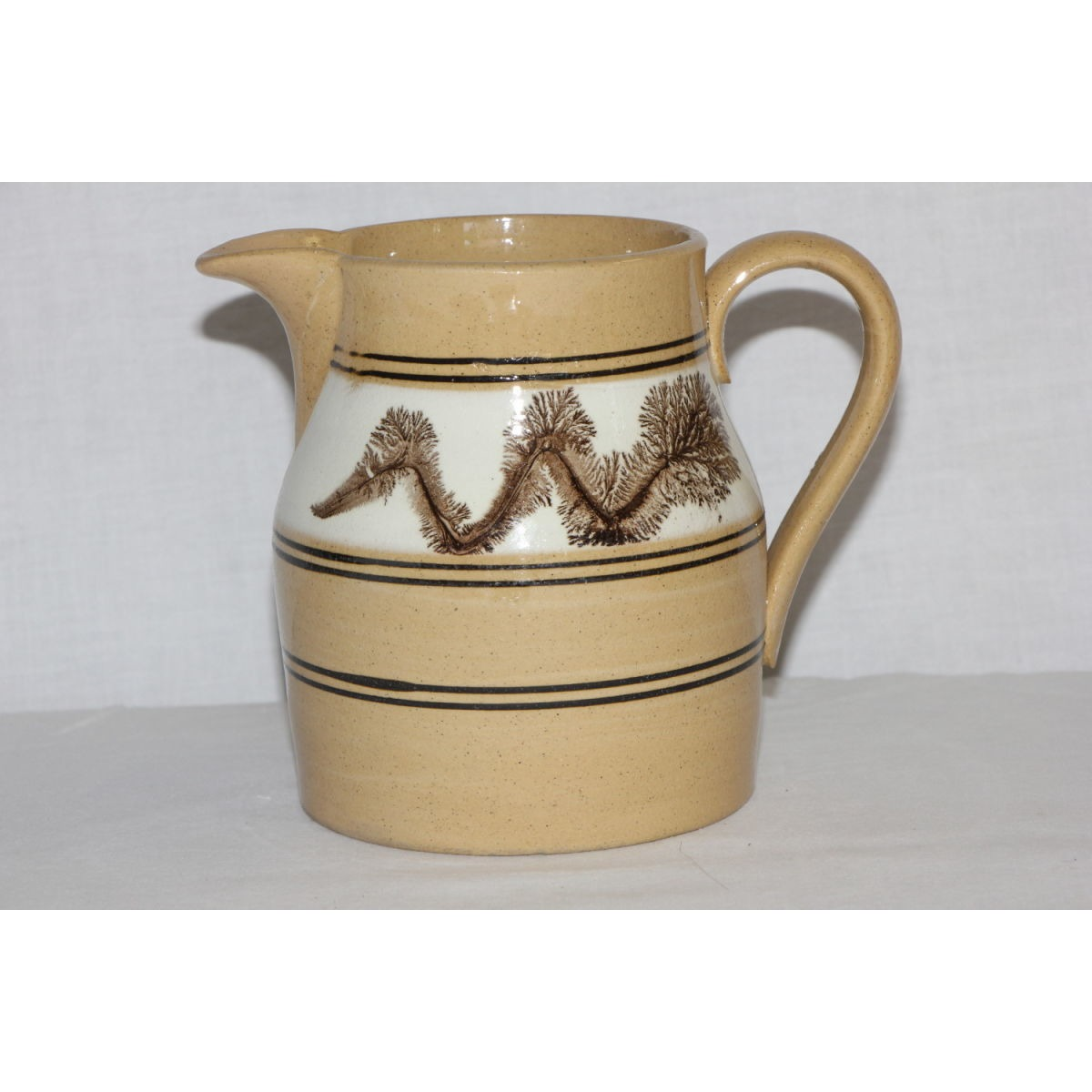Dark Chocolate Seaweed-decorated Yellowware Pitcher
