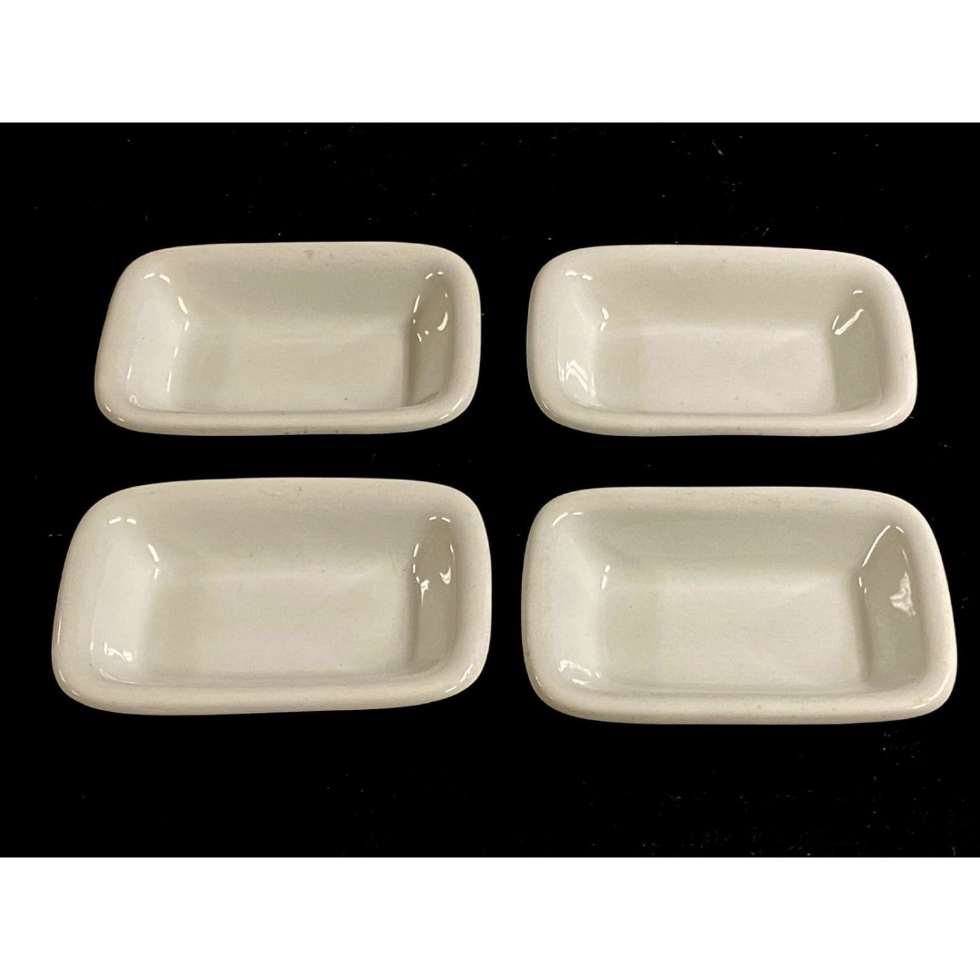 Unusual Set of Four Rectangular Small Bowls - Meakin