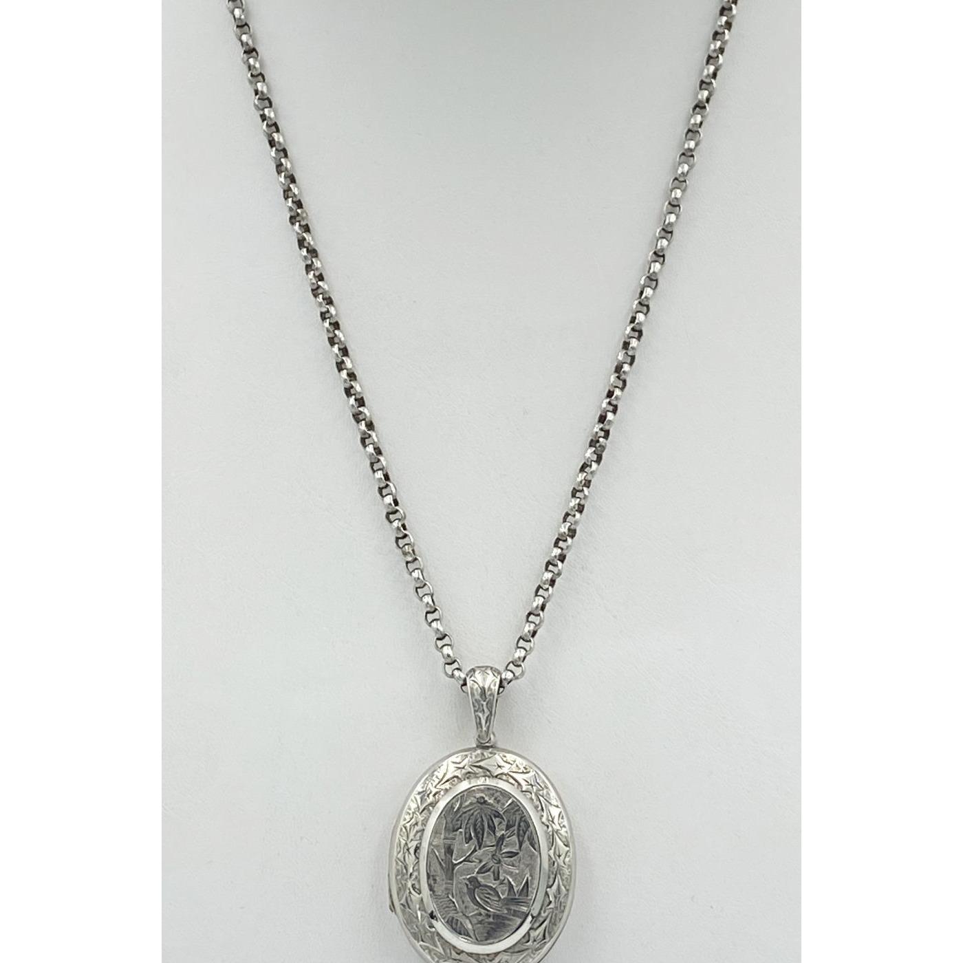 """32"""" Versatile Hand-Hammered Round Link Belcher Antique Silver English Chain - Chain Only"""