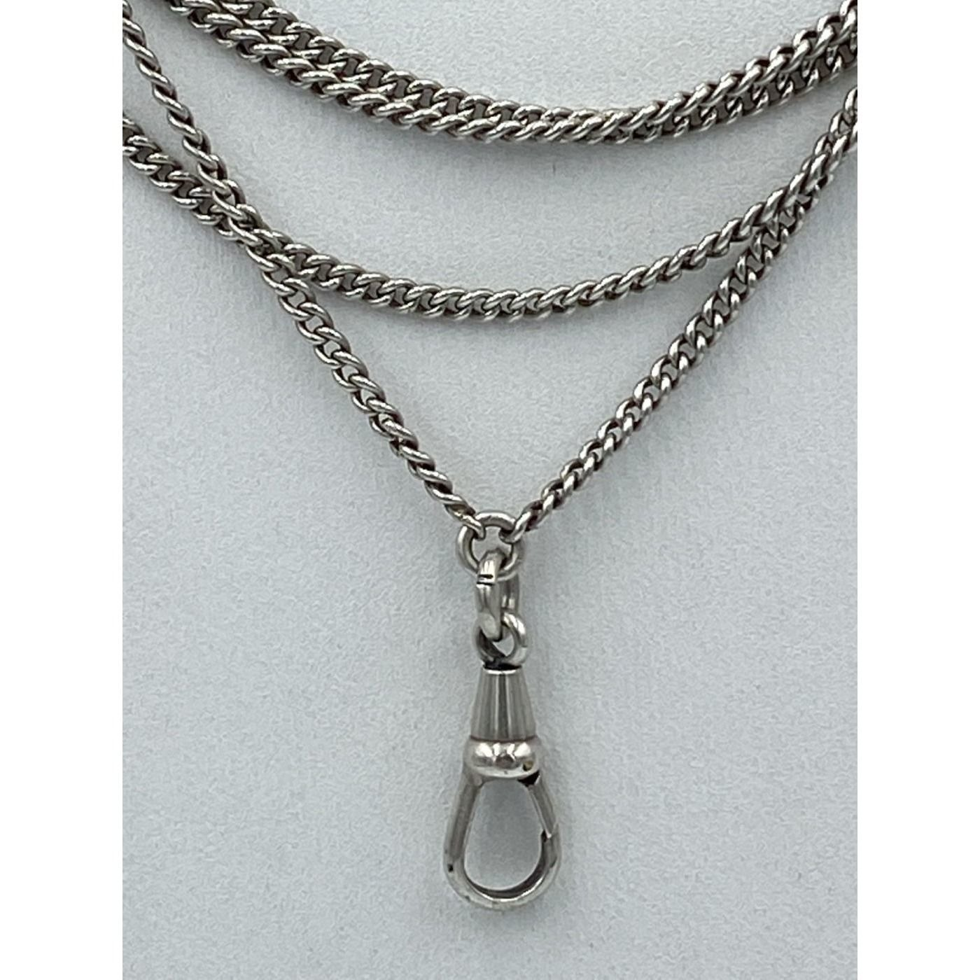 """Versatile 54"""" long Sterling Silver Victorian Chain"""