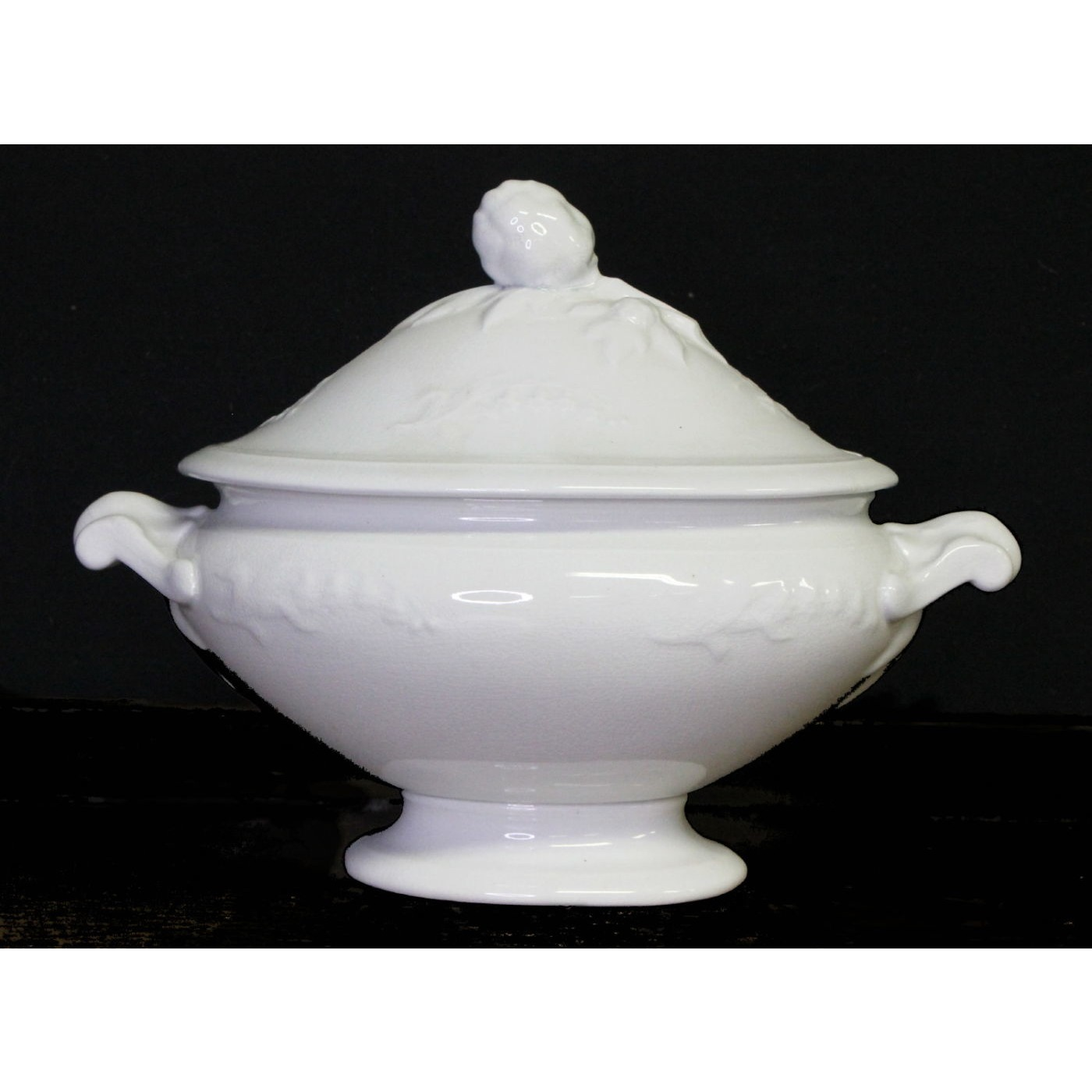Pretty Lily of The Valley Floral Ironstone Sauce Tureen
