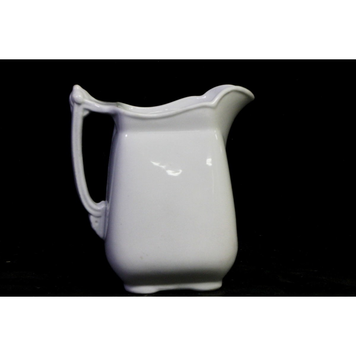 Completely Plain Square Ironstone Creamer - Meakin