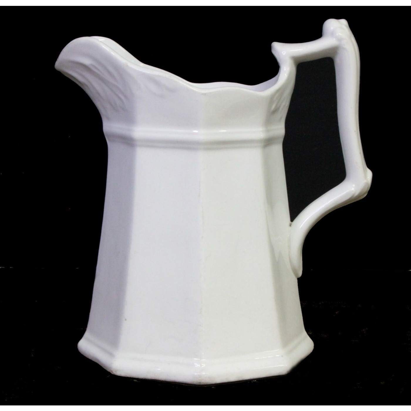 """Early """"Framed Gothic"""" Ironstone Milk Table Pitcher"""
