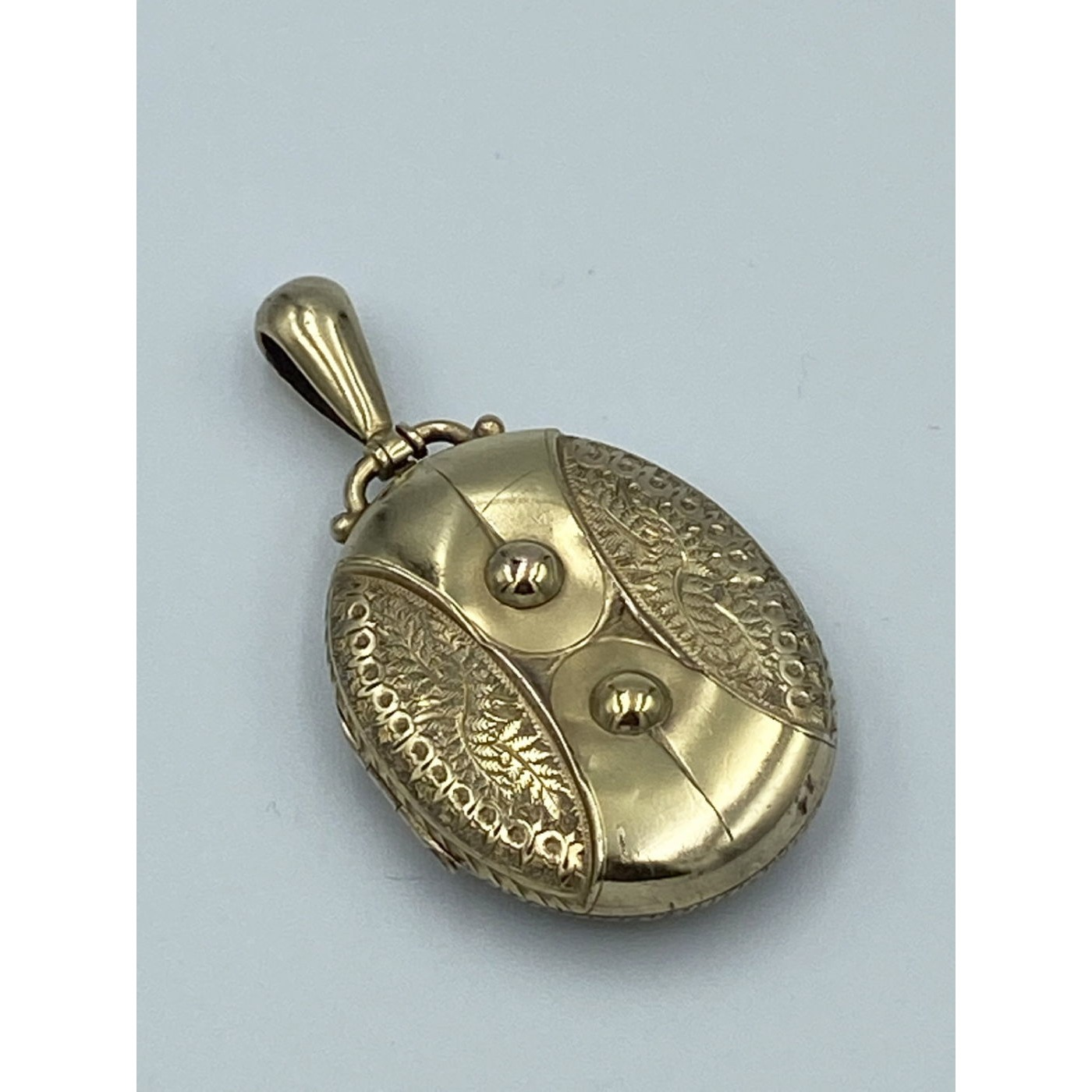 Buckle Locket with Unusual Design - Gold-Filled