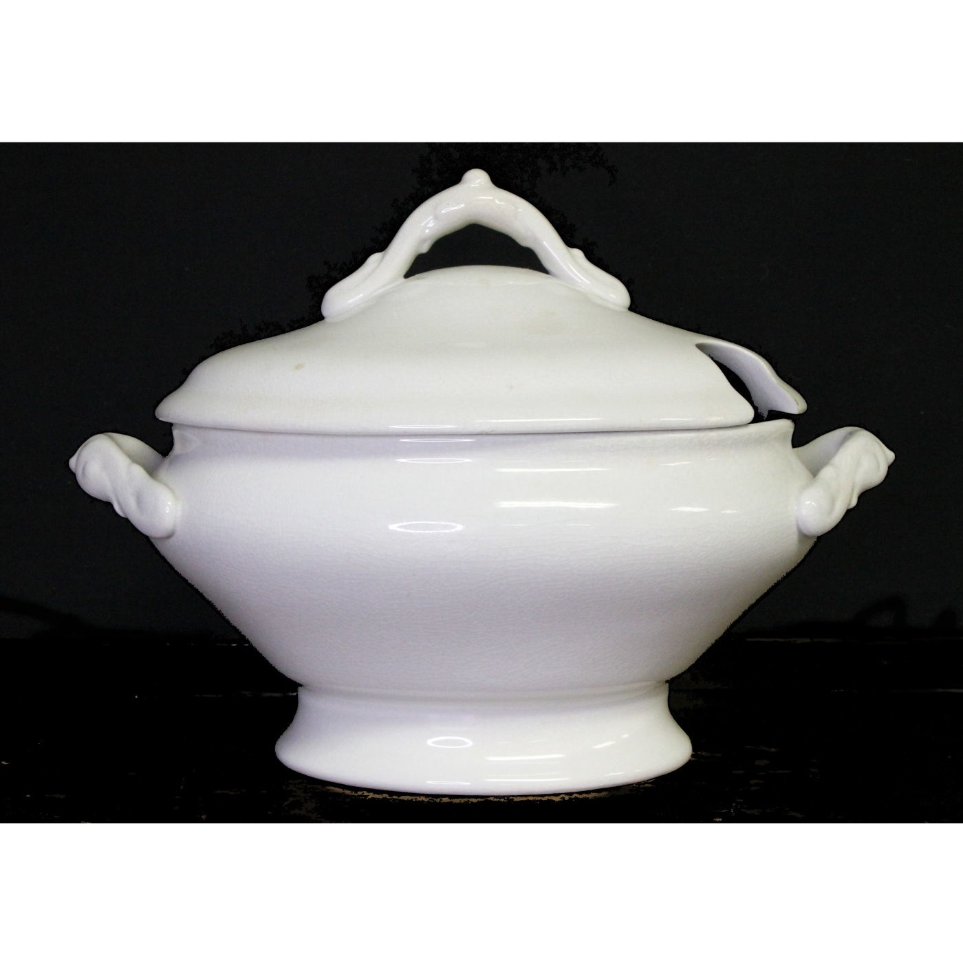 Super Simple Soup Ironstone Tureen with Strap Handles