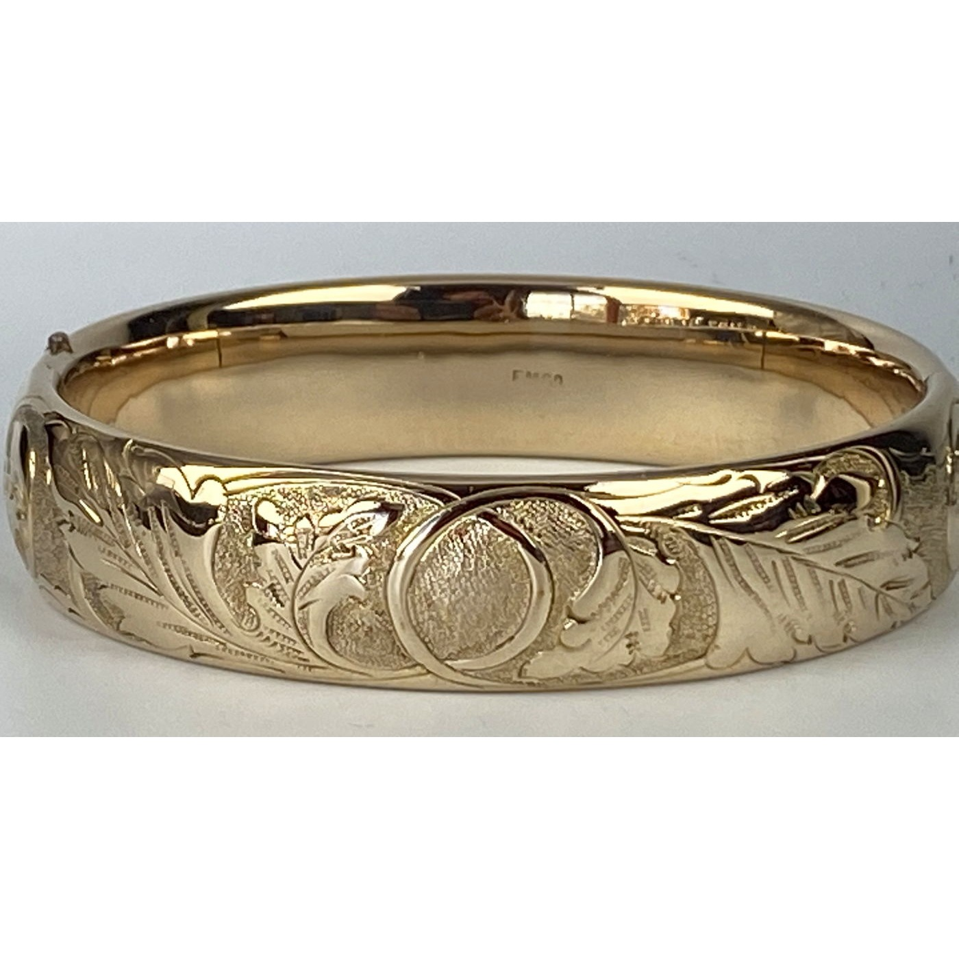 Leaves Flowers Average Width Engagement Bangle
