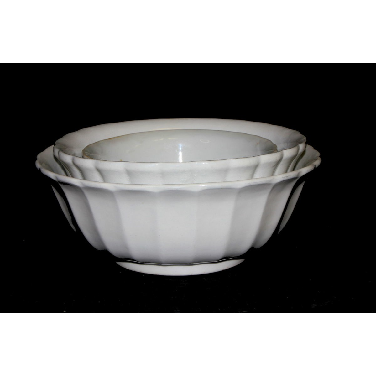 "Large Fluted Ironstone Serving Bowl - 11"" diameter"