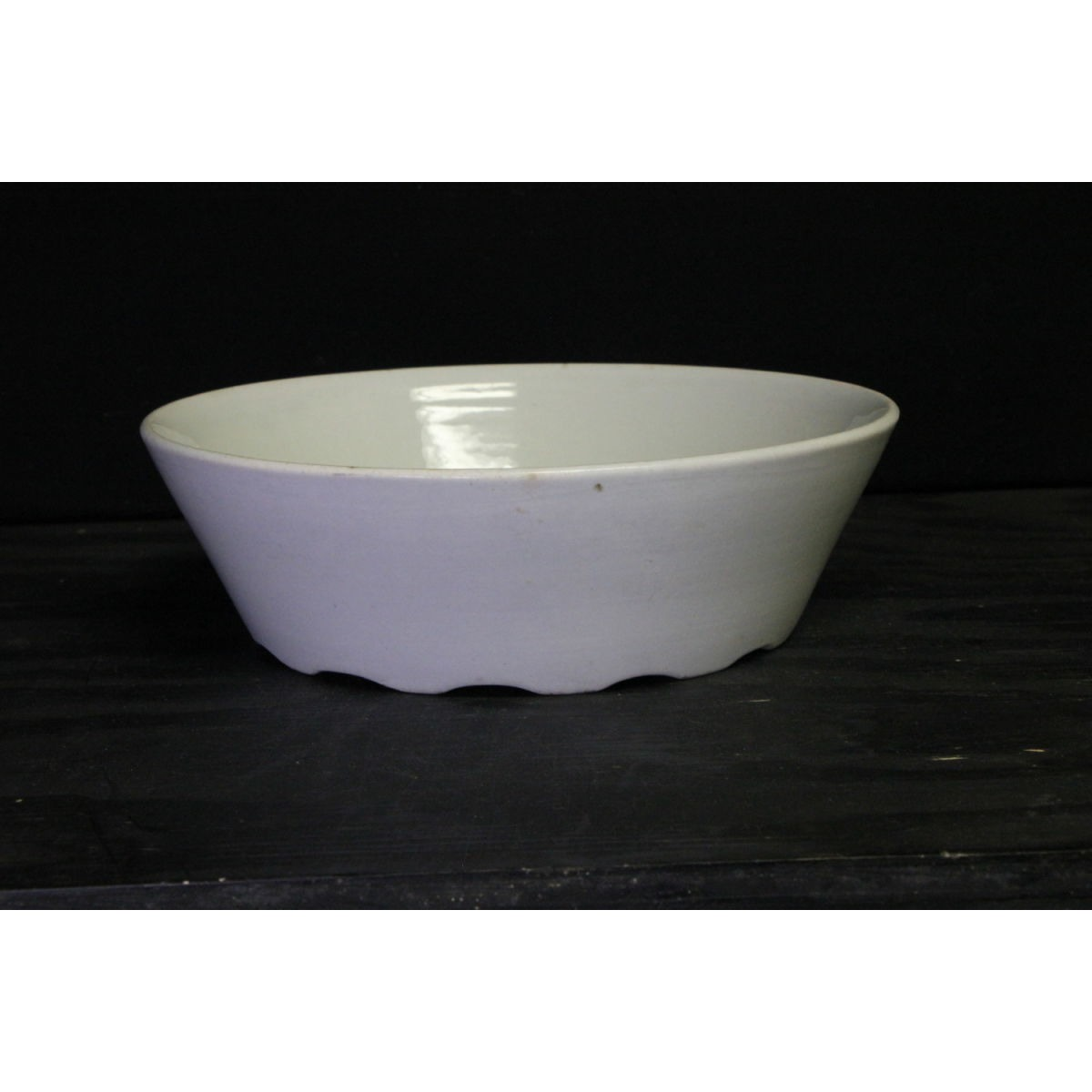 Plain Ironstone Nappy Low Round Serving Dish