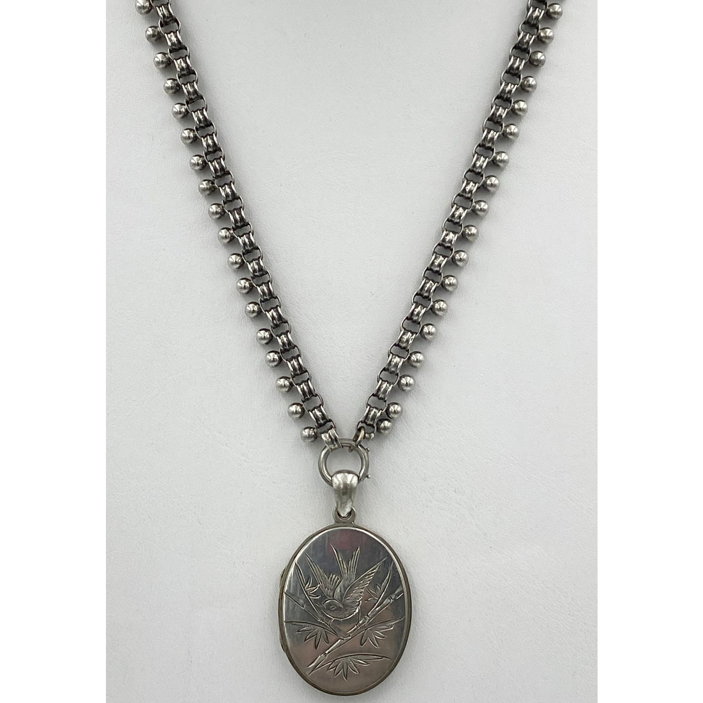 """17"""" Cannonball Exterior Antique Silver English Chain - Chain Only"""