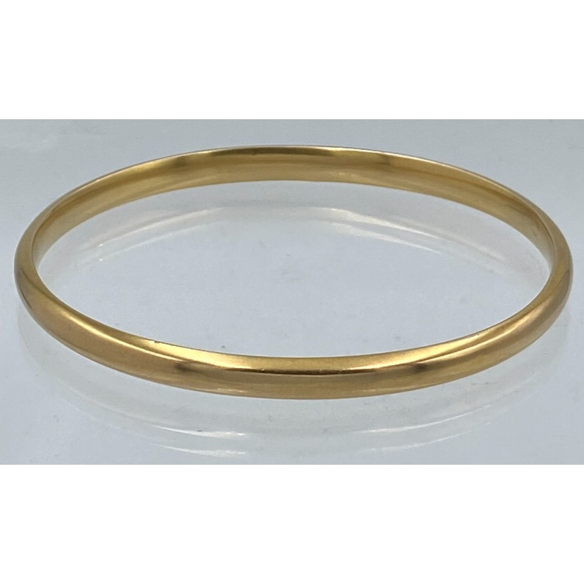 Antique 14 karat Yellow Gold Solid Bangle, Good Weight