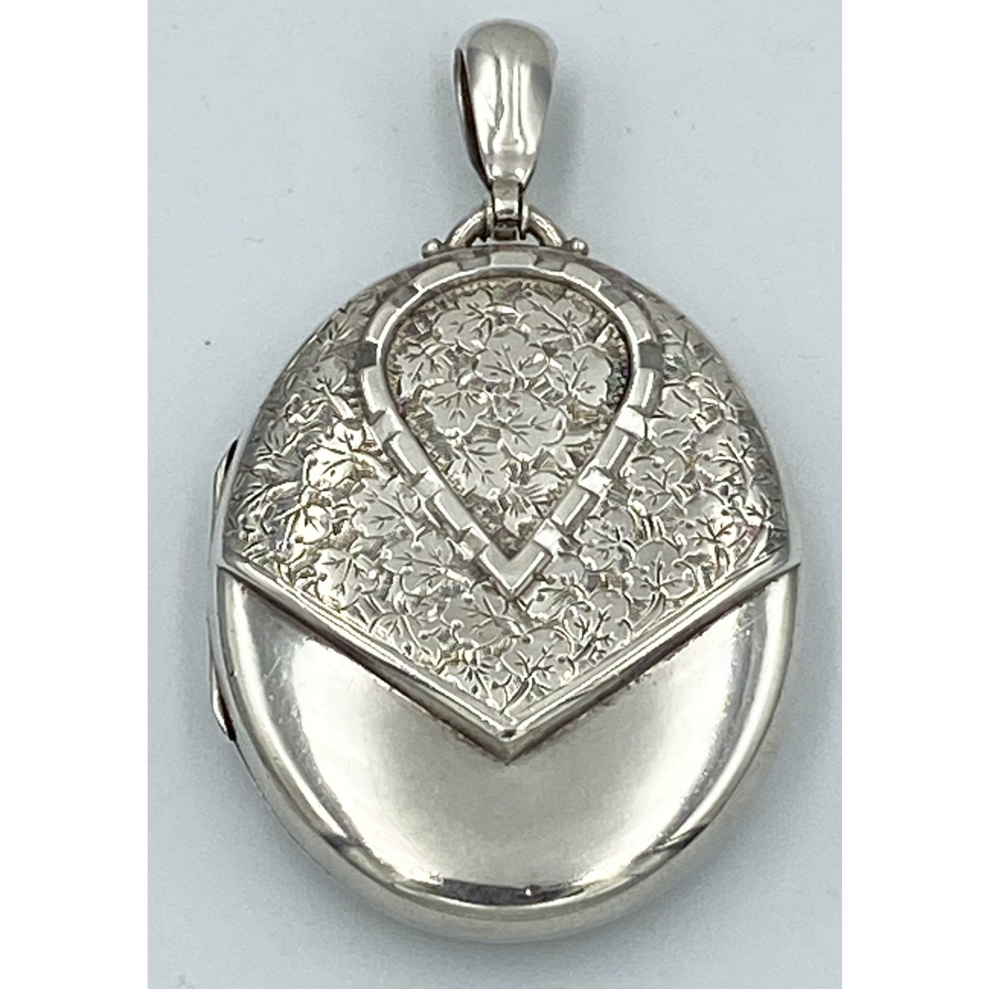 One of the Best Buttonhole or Motif Antique English Silver Locket