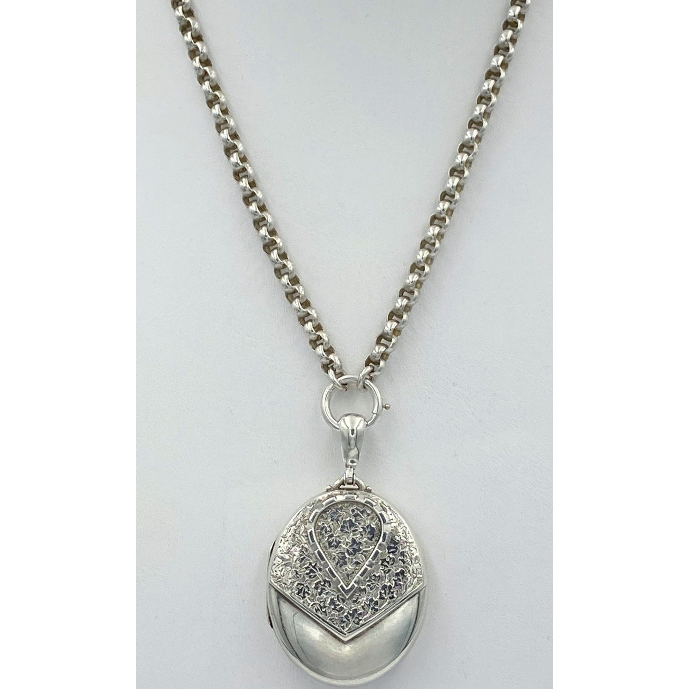 """19"""" Serviceable Smooth Link Belcher Antique English Silver Chain - Chain Only"""