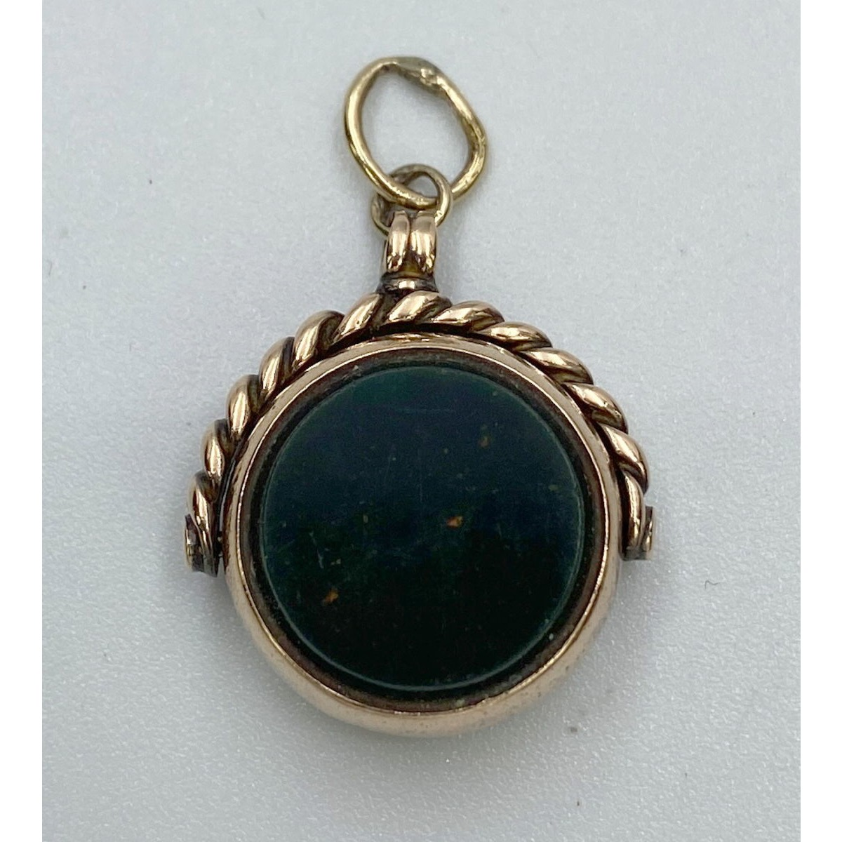 Small Antique English Gold Fob - Perfect for Grouping