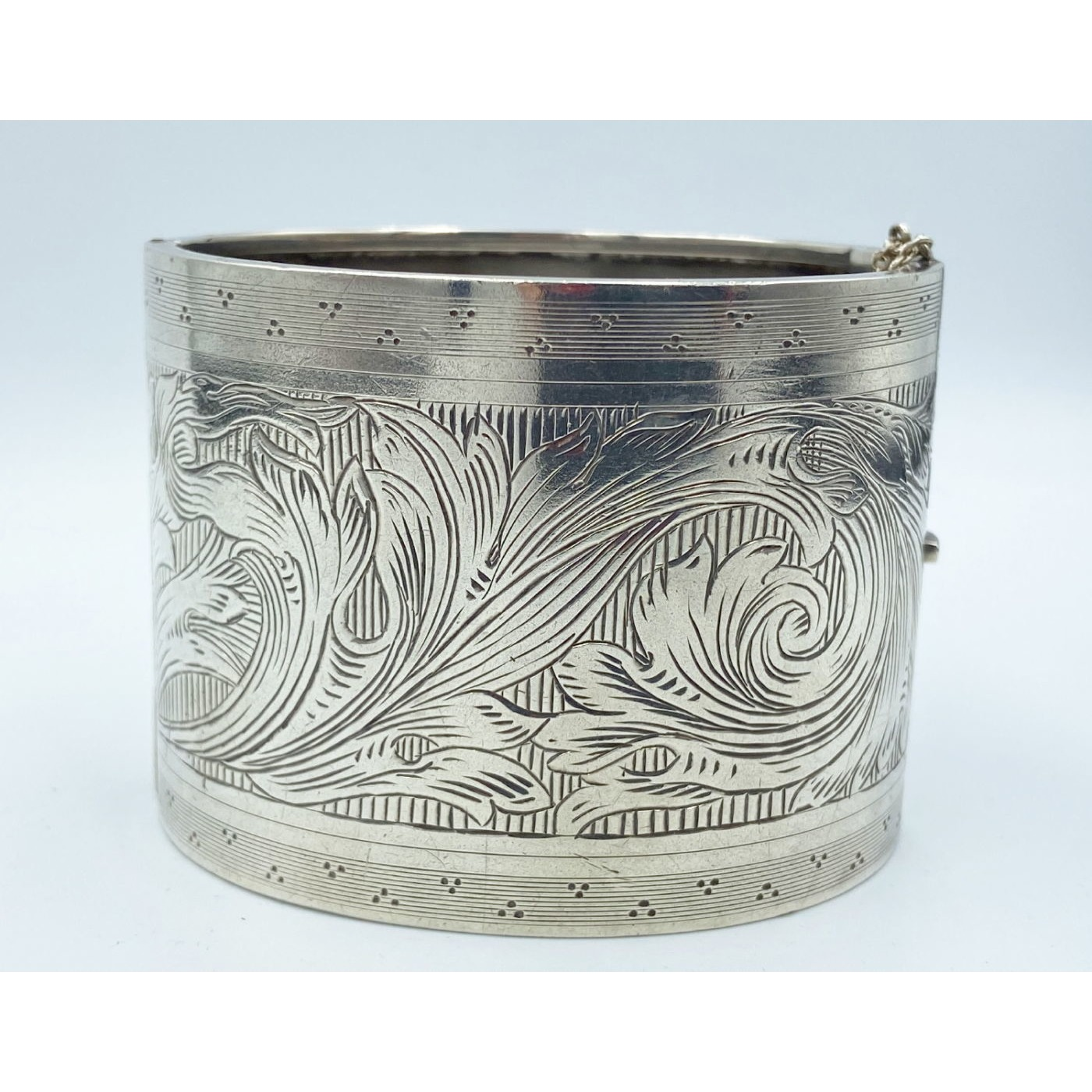 Widest Ever English Silver Bangle - With All My Love