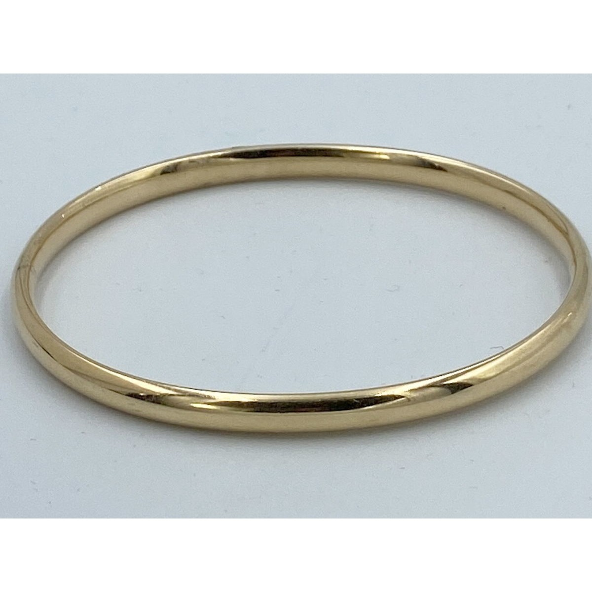 Wonderful Hinged, Buttery Yellow Small Antique 14kt Gold Bangle