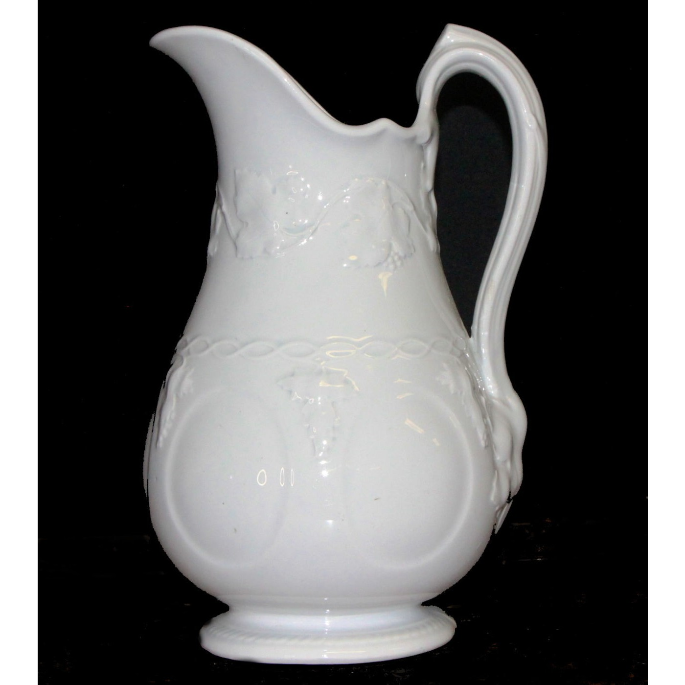 Lovely Tall Ironstone Ewer Pitcher - Vintage Shape