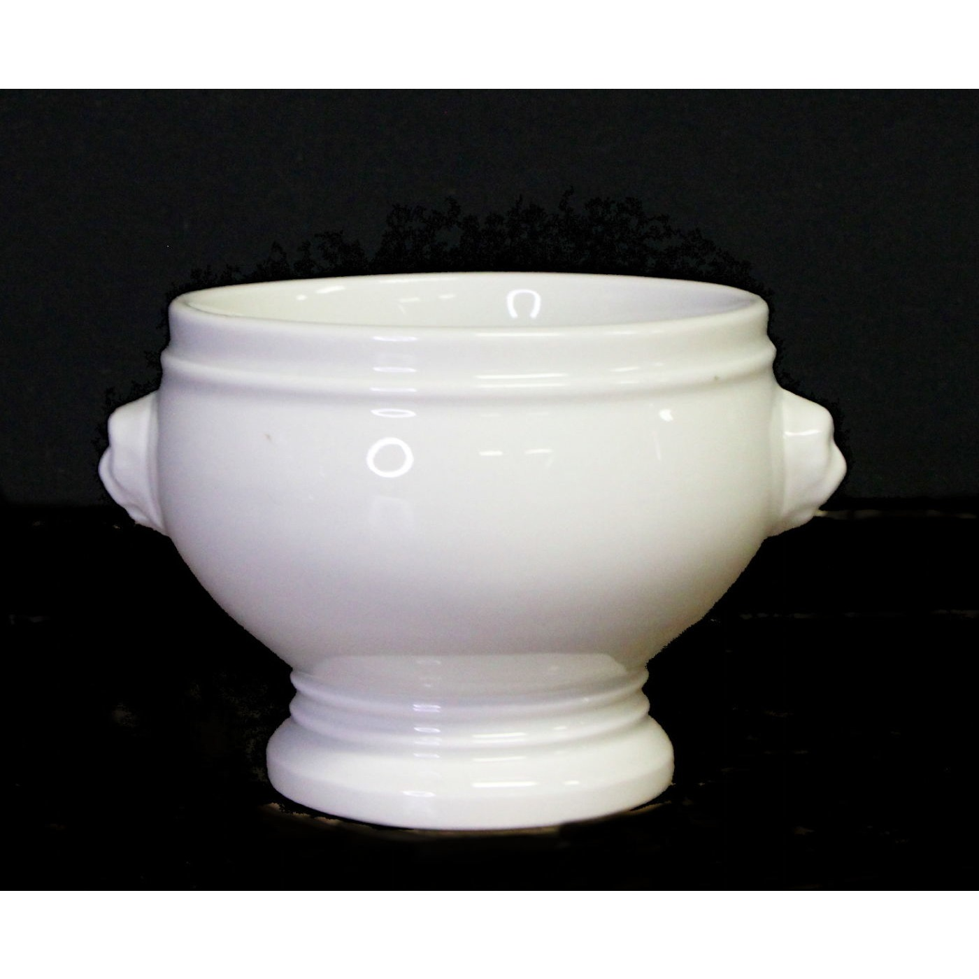 Wonderful Footed Cream Soup Pedestal Cameo Bowl - 2 available