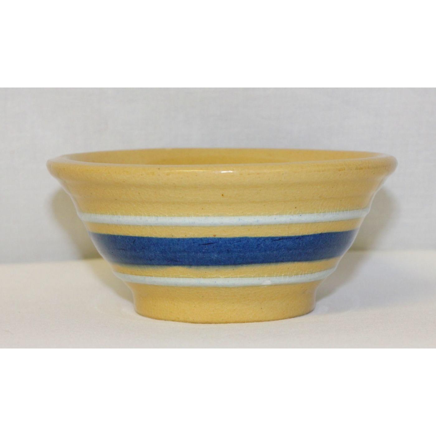 "4.5"" Rare Small Bowl w/ 2 Thin Blue Bands"