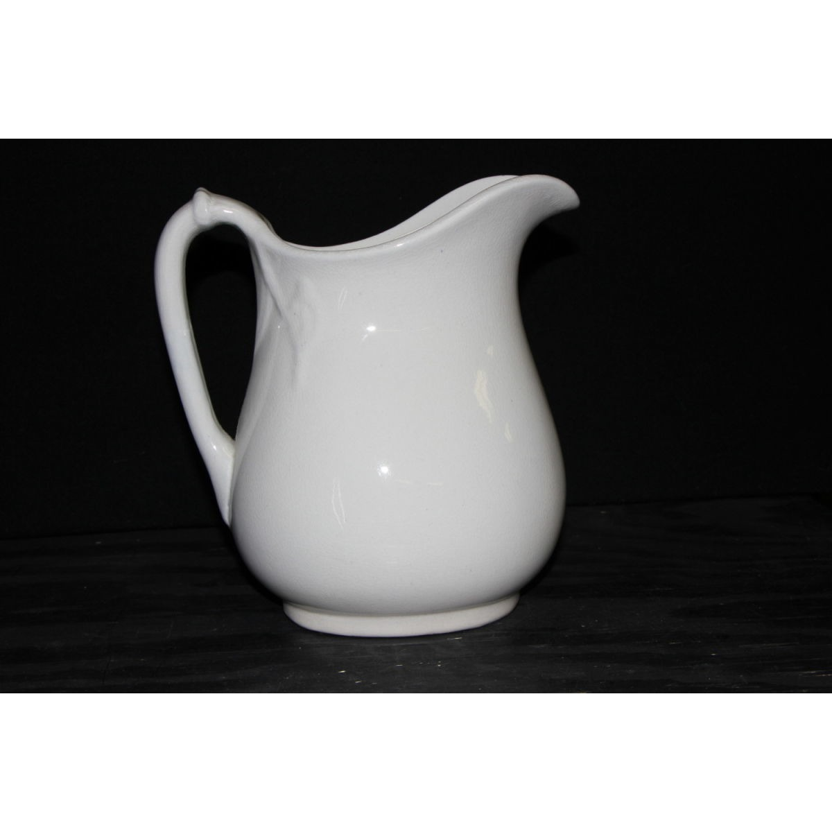 Plain Ironstone Cable/Rope Milk Table Pitcher