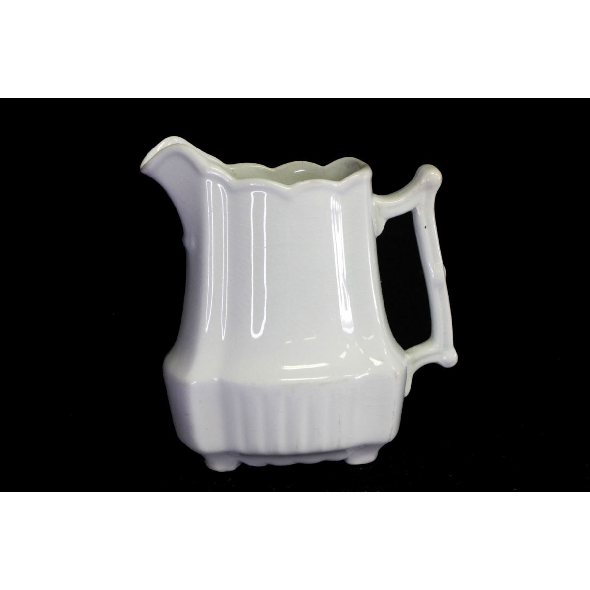 Squarish Fluted Bottom Ironstone Creamer