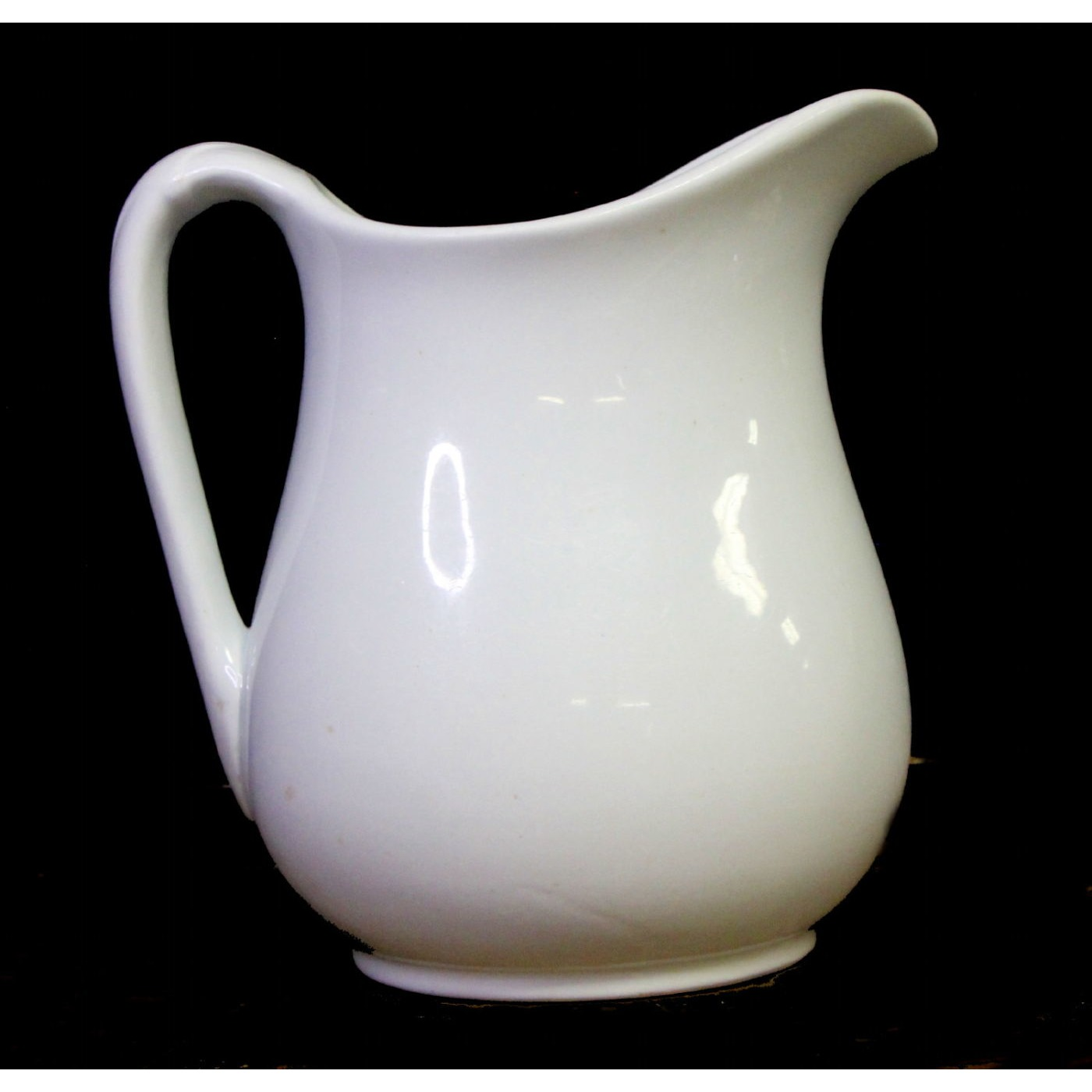 Simple Plain Ironstone Milk Table Pitcher
